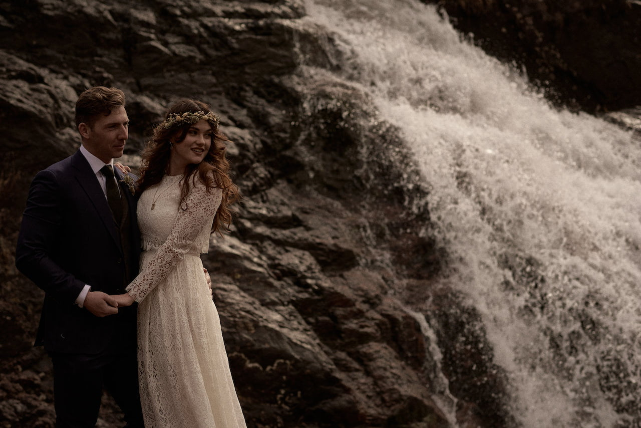 glencoe falls wedding photography